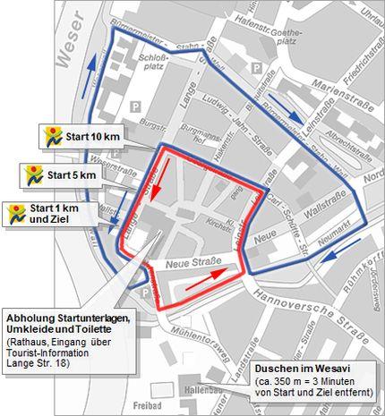 Steckenkarte©Kreisleichtathletikverband Nienburg